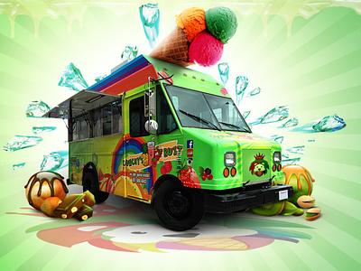 Ice cream summer ice cream photoshop branding logo motion graphics graphic design 3d animation ui