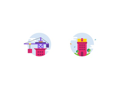 Property Icons under construction buildings in move to ready icons minimal