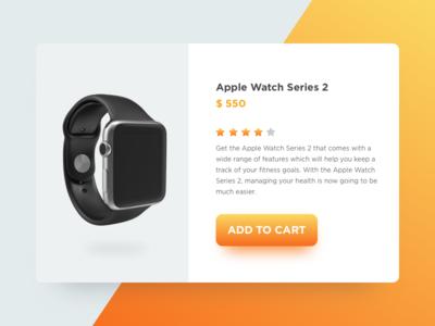 Apple Watch free ui neat clean watch cart design web minimal interaction ui apple watch