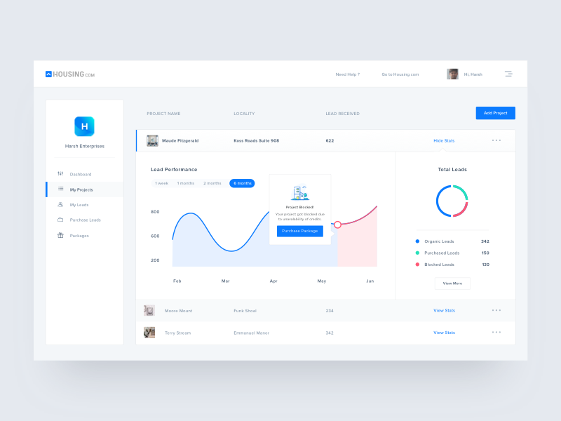 My projects dribbbble