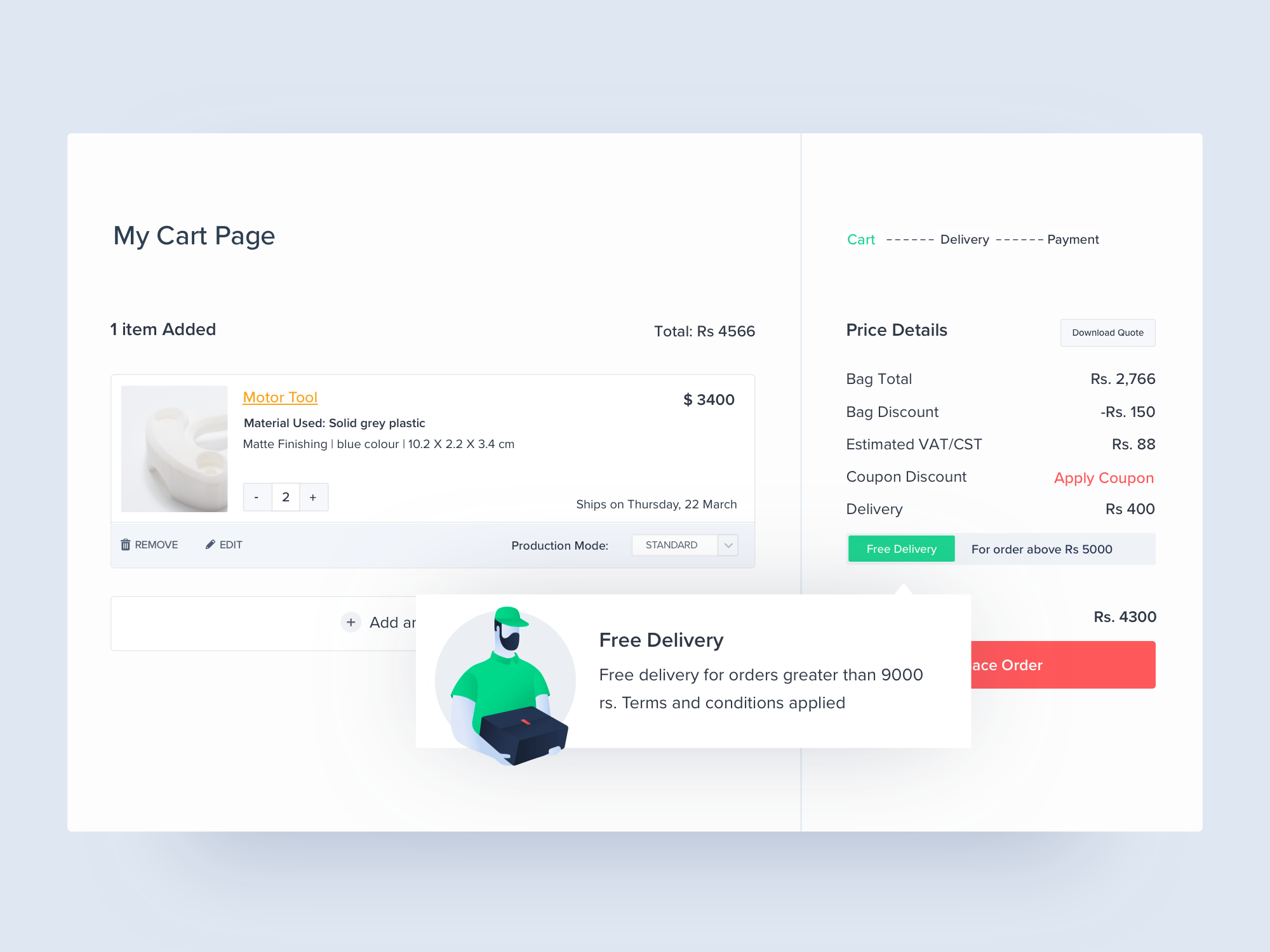 Cart page dribbble attachment 1