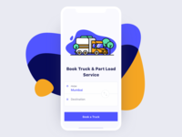 Truck Booking App Landing