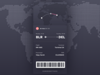 Flight Detail Page Dark UI