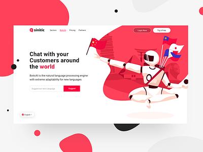 Language Page icons website interaction illustration ux web design ui