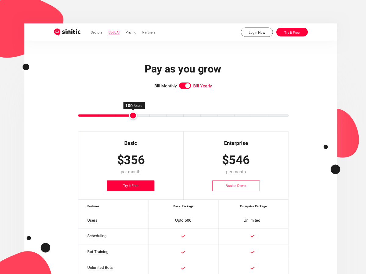 Pricing page dribbble