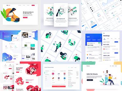 Best of 2018 illustration ux web design ui
