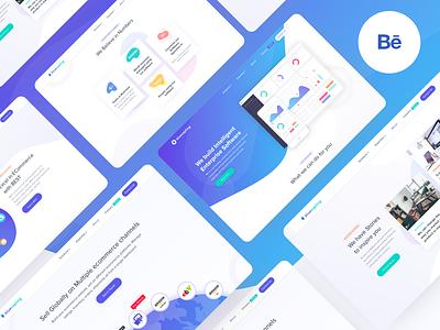 Bluesapling Behance Project icons interaction illustration design ui website builder dashboard website behance