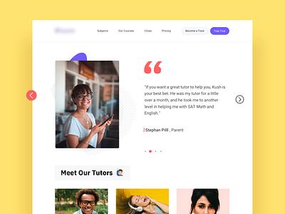 Online Tutoring tutor tutors testimonial classes st louis website banner website online app study