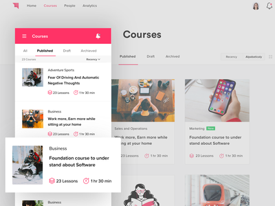 Course Mobile Web chapter courses lms study learn web design ui