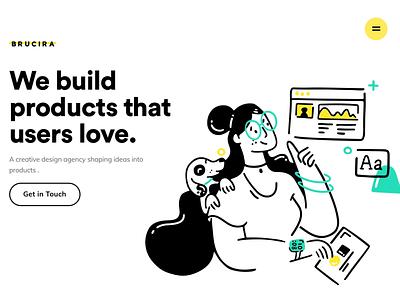 Landing Page interaction brucira animation icons interaction website dashboard illustration ux web design ui