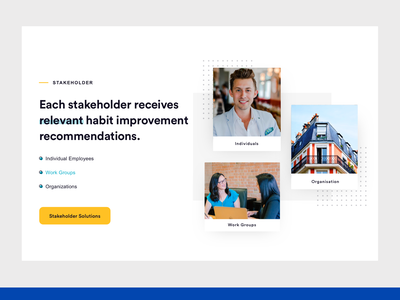 Stakeholders Section cards website dashboard illustration ux web design ui