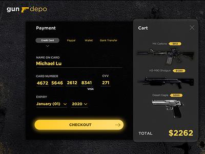 Gun depo ux ui app design