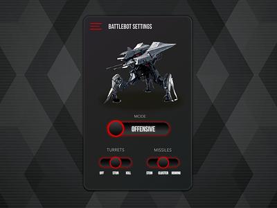 Battle Bot Controller app design ux graphic  design ui