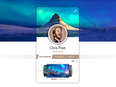 Hologram Share App design graphic  design app ui ux