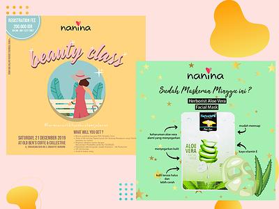 Nanina Konten : Event & Promo vector illustration design branding