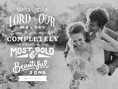 Illustrated Vows handlettering vows love wedding typography
