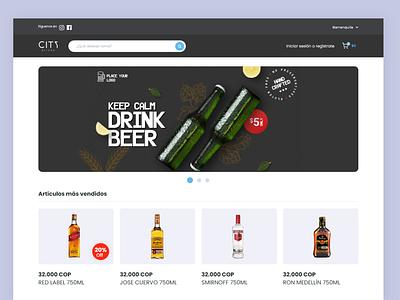 E Commerce - City Drinks website shop graphic design sales e-commerce ui web