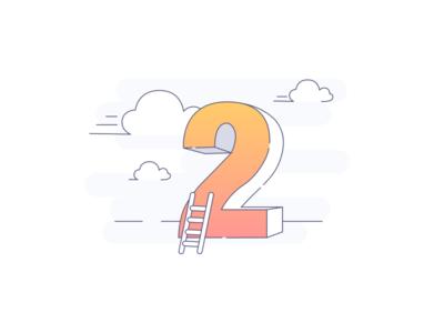 Two-week progress mobile app progress figure sketch illustration app