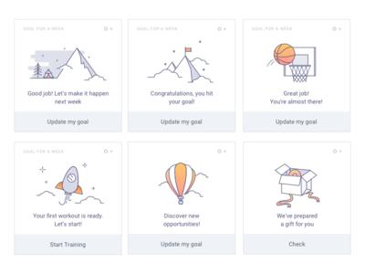 Achievement cards icon application illustration sketch mobile app app