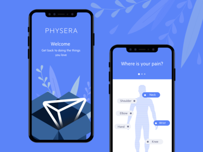 Redesign Physera logo sketch mobile app app