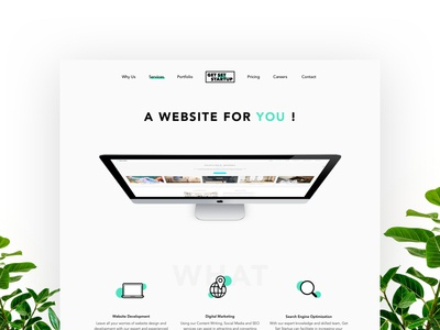 A Website For You! dynamic imac create services startup agency ux design minimalist ux web ui design minimal