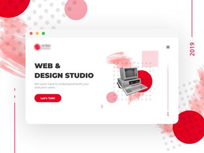 Web & Design Studio Website ux  ui red studio website illustration ui web design minimal