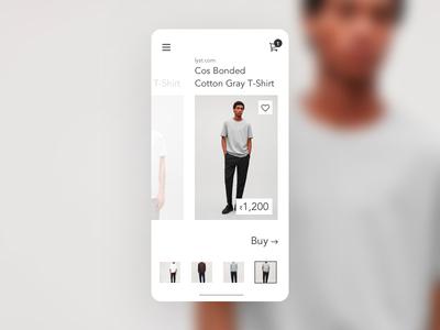 Minimal Fashion App ecommerce clothing cards challenge ui design minimal