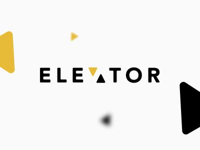 Elevator elevator brand identity typography branding vector logo icon design minimal