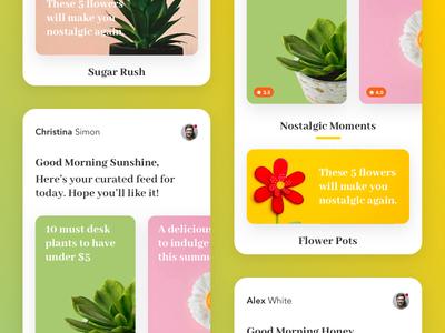 Random UI minimalistic flat random ux-ui blog cards ui design minimal