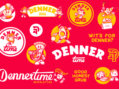 Denner Time brand sheet vector logo apparel branding design illustration