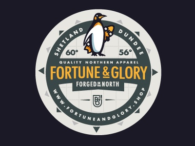 Fortune & Glory Coasters coasters coaster logo vector typography fortuneandglory t-shirt branding design penguin branding dribbble fortune and glory dundee shetland apparel illustration design