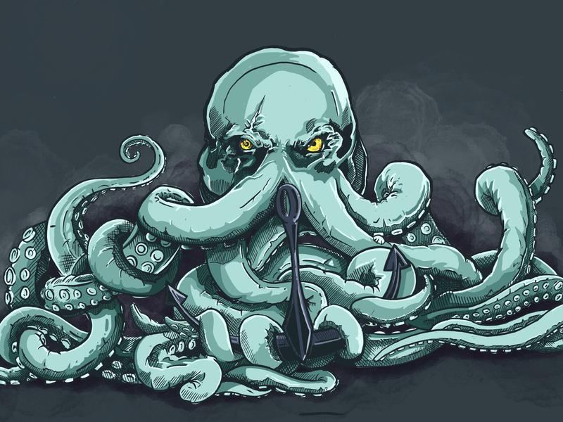 Kraken ipadpro ipad pro procreateapp procreate ipad artwork band artwork design illustration octopus kraken
