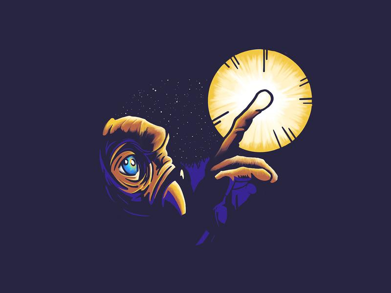 E.T. Original design icon icons dribbble weeklywarmup weekly warm-up ipad pro ipadpro procreate spielberg alien illustration illustration art illustrations