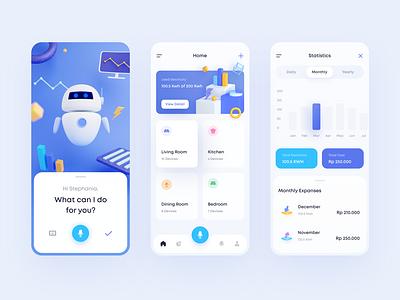 Smart Home App illustration app design 3d ui