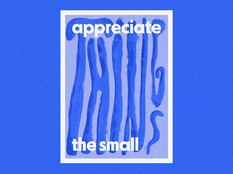 Poster 1 design blue illustration