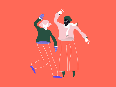 It's Time To Dance caracter portrait design illustration