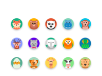 Colorful Animal Icons
