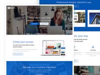Landing page sitebuilder/storebuilder design