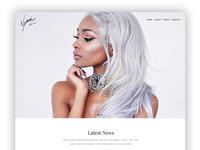 'Nyane' Fashion Blogger and Model Website Design