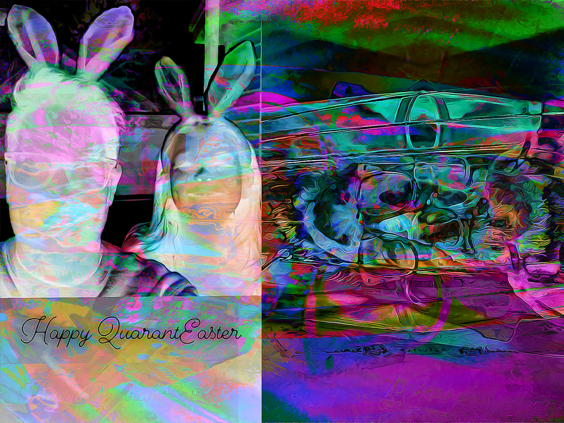 QUARANTEASTER 2020 candy jesus 2020 easter quarantine covid19 3d abstract digitalart ericfickes