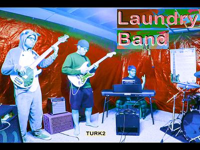 TURK2 bands laundry laundry band laundryband basement drums piano bass guitar bass onesie funky quartet band music ericfickes