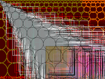FrizzleSun_red codeart processing abstract digitalart ericfickes