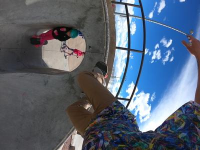 Accidental Skateboard Selfie