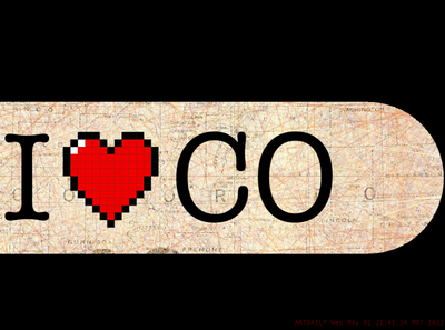 I ♥️ CO - Skateboard Deck