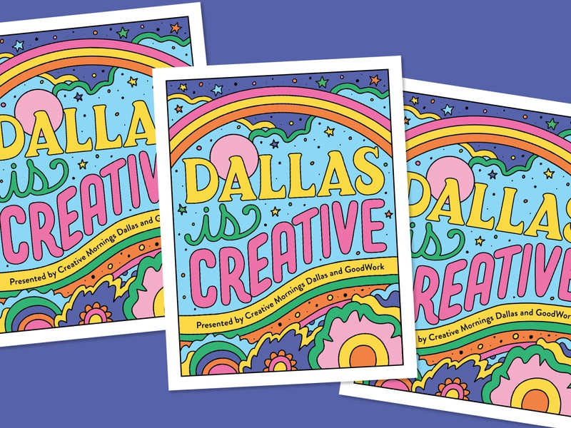 Dallas Is Creative—Brochure Cover 60s cover design brochure lettering art 70sdesign illustration
