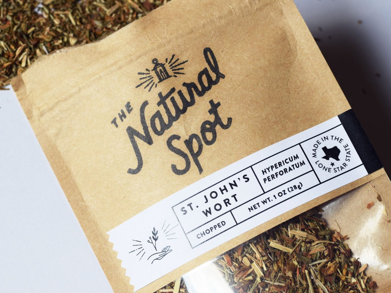 The Natural Spot Packaging simplicity natural products naturalistic eco friendly texas packaging spices herbs hand drawn logo lettering package design