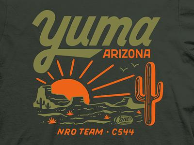 Yuma, AZ Tee t-shirt design tee t-shirt illustration lettering