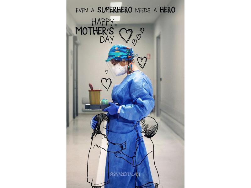Happy Mother's day illustration digitalart doodles nurse sivadigitalart coronavirus covid19 doctor doodle drawing art mothers day motherhood mothersday mother