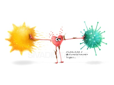 2020 wacom summer locust coronavirus covid19 cartoon painting digital art drawing india art sivadigitalart illustration