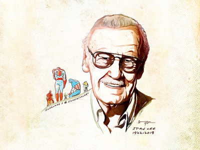 Rip Stan Lee! stanleeforever portrait sivadigitalart art stan lee stanlee rip comics marvel illustration ripstanlee tribute